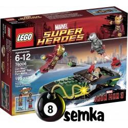 Zestaw LEGO SUPER HEROES 76006 IRON MAN BITWA O PORT EXTREMIS