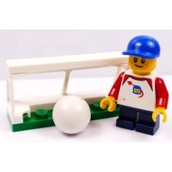 LEGO CITY CHŁOPIEC Z PIŁKĄ I BRAMKĄ