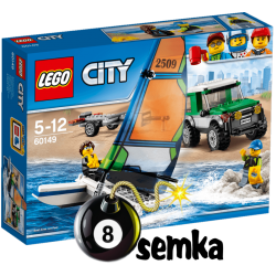 LEGO CITY 60149 TERENÓWKA 4X4 Z KATAMARANEM