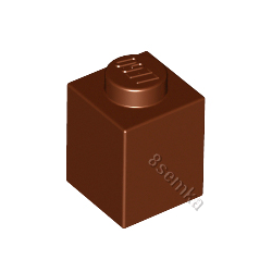 KLOCEK LEGO BRICK 1X1 REDDISH BROWN - 3005