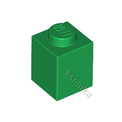 KLOCEK LEGO BRICK 1X1 GREEN - 3005