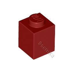 KLOCEK LEGO BRICK 1X1 DARK RED - 3005