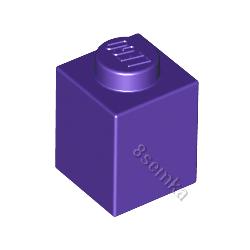 KLOCEK LEGO BRICK 1X1 DARK PURPLE - 3005