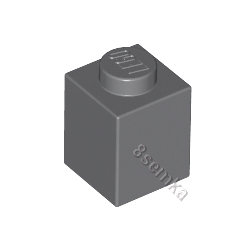 KLOCEK LEGO BRICK 1X1 DARK BLUISH GRAY - 3005