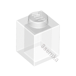 KLOCEK LEGO BRICK 1X1 TRANS CLEAR - 3005