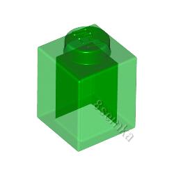 KLOCEK LEGO BRICK 1X1 TRANS GREEN - 3005
