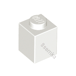 KLOCEK LEGO BRICK 1X1 WHITE - 3005