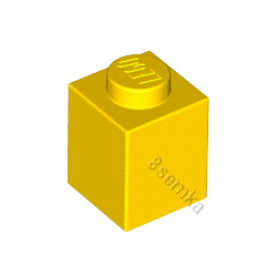 KLOCEK LEGO BRICK 1X1 YELLOW - 3005
