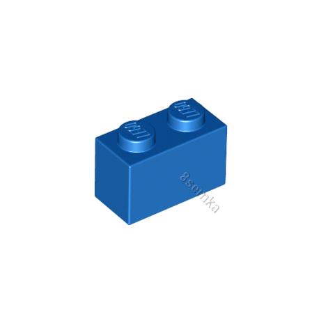 KLOCEK LEGO BRICK 1X2 BLUE - 3004