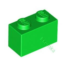 KLOCEK LEGO BRICK 1X2 BRIGHT GREEN - 3004