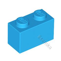 KLOCEK LEGO BRICK 1X2 DARK AZURE- 3004