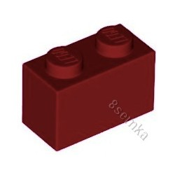 KLOCEK LEGO BRICK 1X2 DARK RED - 3004
