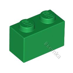 KLOCEK LEGO BRICK 1X2 GREEN - 3004