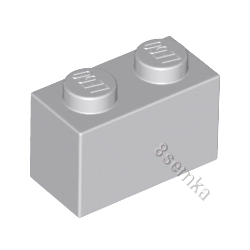 KLOCEK LEGO BRICK 1X2 LIGHT BLUISH GRAY - 3004