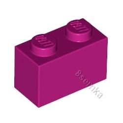 KLOCEK LEGO BRICK 1X2 MAGENTA - 3004