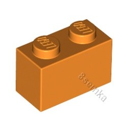 KLOCEK LEGO BRICK 1X2 ORANGE - 3004