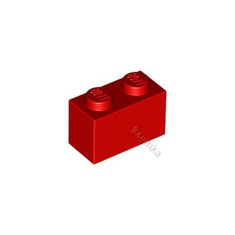 KLOCEK LEGO BRICK 1X2 RED - 3004