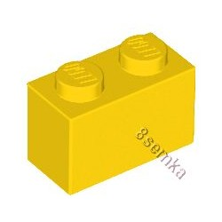 KLOCEK LEGO BRICK 1X2 YELLOW - 3004