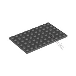 KLOCEK LEGO PLATE 6X10 DARK GRAY - 3033
