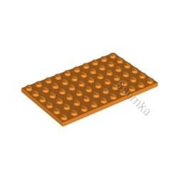KLOCEK LEGO PLATE 6X10 ORANGE - 3033