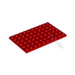 KLOCEK LEGO PLATE 6X10 RED - 3033