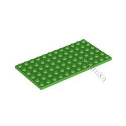 KLOCEK LEGO PLATE 6X12 BRIGHT GREEN - 3028
