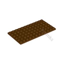 KLOCEK LEGO PLATE 6X12 REDDISH BROWN - 3028