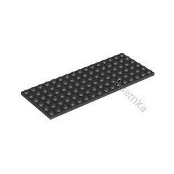 KLOCEK LEGO PLATE 6x16 BLACK - 3027