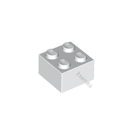 KLOCEK LEGO BRICK 2X2 WHITE - 3003