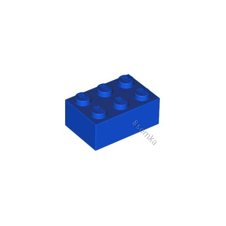 KLOCEK LEGO BRICK 2X3 BLUE - 3002