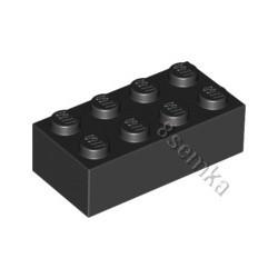 KLOCEK LEGO BRICK 2X4 BLACK - 3001