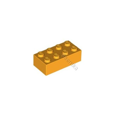 KLOCEK LEGO BRICK 2X4 BRIGHT LIGHT ORANGE - 3001