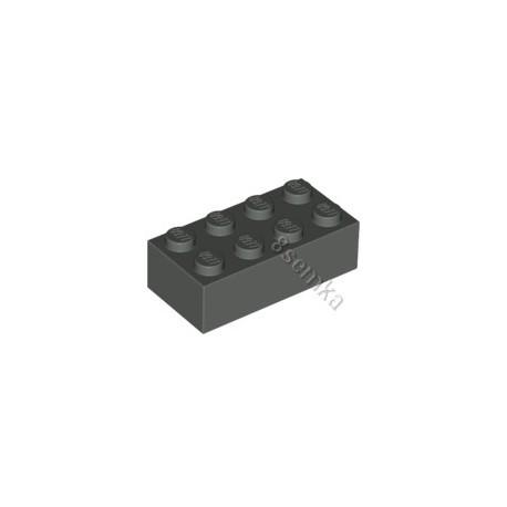 KLOCEK LEGO BRICK 2X4 DARK BLUISH GRAY - 3001