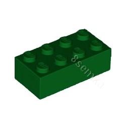 KLOCEK LEGO BRICK 2X4 GREEN - 3001