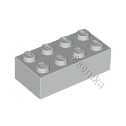 KLOCEK LEGO BRICK 2X4 LIGHT BLUISH GRAY - 3001