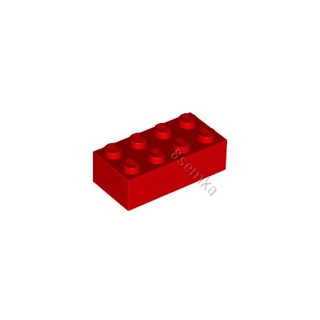 KLOCEK LEGO BRICK 2X4 RED - 3001