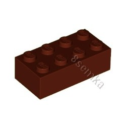 KLOCEK LEGO BRICK 2X4 REDDISH BROWN - 3001