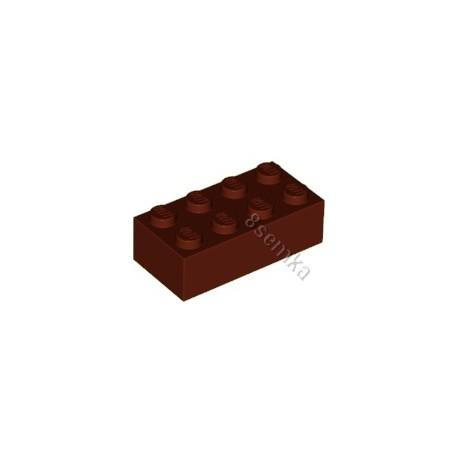 KLOCEK LEGO BRICK 2X4 REDDISH BROWN - 3001