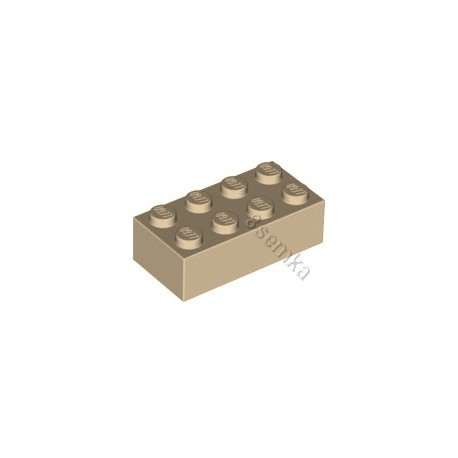 KLOCEK LEGO BRICK 2X4 TAN - 3001