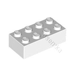 KLOCEK LEGO BRICK 2X4 WHITE- 3001