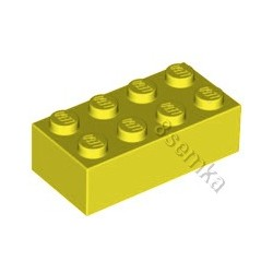 KLOCEK LEGO BRICK 2X4 YELLOW- 3001