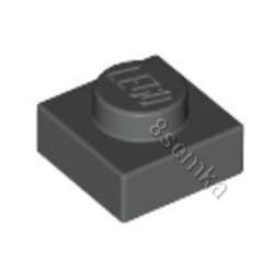 KLOCEK LEGO PLATE 1X1 DARK BLUISH GRAY - 3024