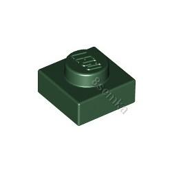 KLOCEK LEGO PLATE 1X1 DARK GREEN - 3024