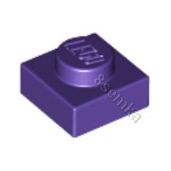 KLOCEK LEGO PLATE 1X1 DARK PURPLE - 3024