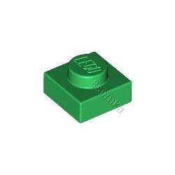 KLOCEK LEGO PLATE 1X1 GREEN - 3024