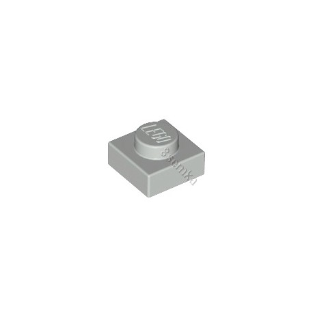 KLOCEK LEGO PLATE 1X1 LIGHT BLUISH GRAY - 3024