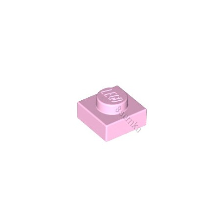 KLOCEK LEGO PLATE 1X1 LIGHT PINK - 3024
