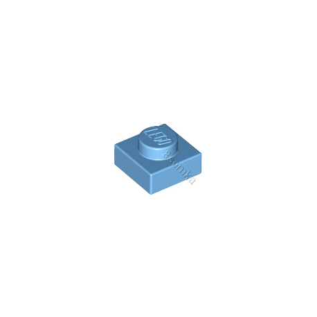 KLOCEK LEGO PLATE 1X1 MEDIUM BLUE - 3024
