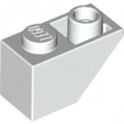 KLOCEK LEGO SKOS ODWRÓCONY 1X2  WHITE - 3665