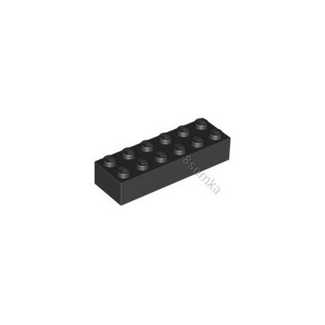 KLOCEK LEGO BRICK 2X6 BLACK - 2456